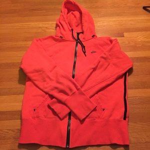 Pumpkin orange Nike hoodie size Large